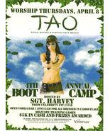 SGT HARVEY 4th Annual Boot Camp @ TAO Las Vegas Promo Card - $1.95