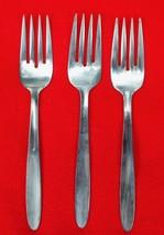 """3X Salad Dessert Forks Englishtown ENS2 Stainless Glossy Flatware 6 1/2""""... - $28.71"""