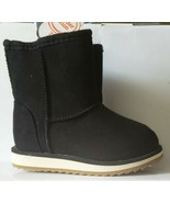 NWT LITTLE GIRL SIZE 7 WONDER NATION BLACK SUEDE BOOTS - $14.00
