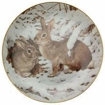 Collectors Studio c1983 The Forest Year Rabbits in The January Snow John... - $31.84