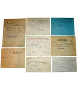 8 1871-1901 NEW YORK NY Billhead Document Receipts Dyes Wool Grocery Cot... - $22.99