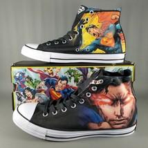 Converse CTAS x Superman Vol 1 DC Comics Shoes Mens Size 8 Hi Chucks Bla... - $56.09