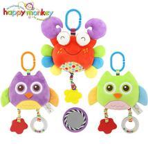 Happy monkey baby plush toy cartoon animal toothbrush toy baby carriage ... - $21.00