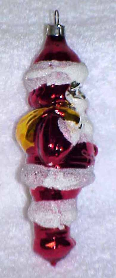 Vintage Glass SANTA Christmas Ornament - W. Germany
