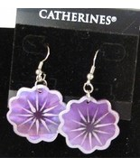 "Lightweight Lavender 1""  Shell Dangle Earrings Made in Phillipines NWT - $7.99"