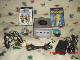 Nintendo GAMECUBE platinum (NTSC) with  Shark Tale  and Final Fantasy - $79.19