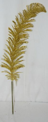 tii Collections G3229 Gold Swirl Tinsel Decorative Feather
