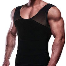 GKVK Mens Slimming Body Shaper Vest Chest Compression Shirt Abs Abdomen ... - $27.60