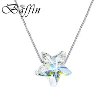 BAFFIN Simple Star Bead Necklaces Pendants Crystals From Swarovski Silve... - $9.87