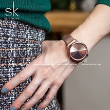 Women's Watches Fashion Leather Wrist Watch Vintage Ladies Watch Irregul... - $39.79