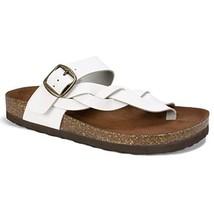 White Mountain Shoes Crawford Women's Sandal, White/Leather, 9 M - $24.07