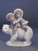 Lladro 5353 Eskimo Riders porcelain figurine vintage - $500.00