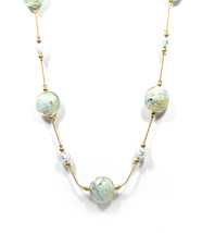 Authentic GINEVA Murano Glass Marmelli Romance Fluttuante Molto Necklace - $249.95