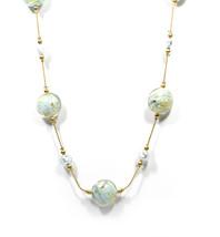 Authentic GINEVA Murano Glass Marmelli Romance Fluttuante Molto Necklace - $249.95+