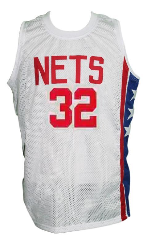 Julius Erving New York Nets Aba Retro Basketball Jersey New Sewn White Any Size