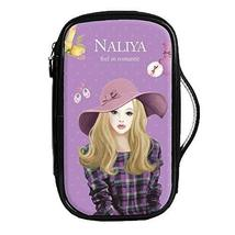 Fashion Waterproof Travel Makeup Case Cosmetic Bag Sundry/Toiletry, Hat Girl