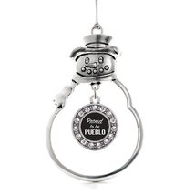 Inspired Silver Proud To Be Pueblo Circle Snowman Holiday Christmas Tree Ornamen - $14.69