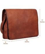 Men's Women's Brown Leather Handbag Shoulder Messenger Shoulder Bag Satc... - $49.76