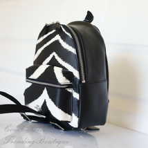 NWT Coach F39033 MINI CHARLIE Zebra Backpack Shoulder Bag Black Chalk - $98.99