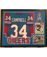 Earl Campbell Autographed Custom Framed Houston Oilers Jersey 2 JSA Witn... - $338.44