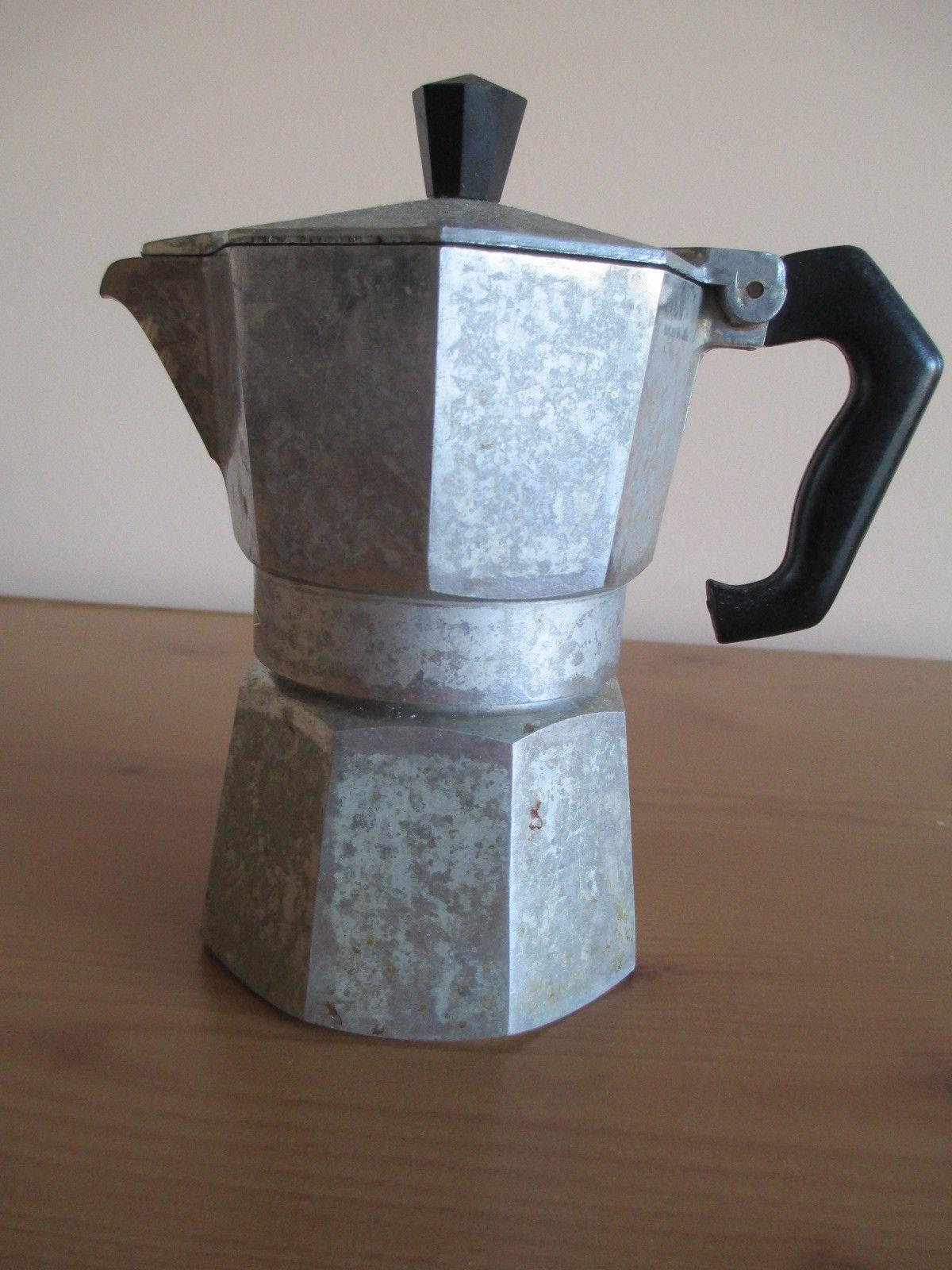 VTG ALUMINUM MORENITA ESPRESSO COFFEE MAKER, MADE IN ITALY