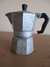 VTG ALUMINUM MORENITA ESPRESSO COFFEE MAKER, MADE IN ITALY - $9.49