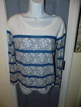 American Eagle Favorite T Floral Print Long Sleeve Shirt Size XS Women's... - $19.50