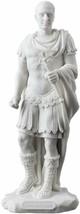Julius Caesar in Roman Military Uniform Statue Sculpture Figurine - $49.99