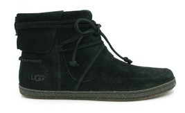 UGG AUSTRALIA Reid Women's Soft Suede Moccasin 1019129 - Black - Size 9.5 - NEW - $93.49
