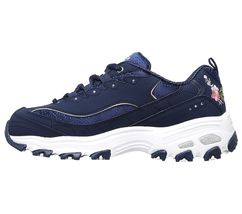 11977 Navy Dlites Skechers Shoes Women Sporty Casual Comfort Memory Foam Floral image 3