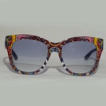 Dolce & Gabbana Women Sunglasses Blue Lens Graphic Frame DG4270 ITALY - $242.50