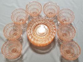 "Vintage Jeannette Pink Depression Glass ""Holiday Pink"" 16 pc. Set (circa... - $100.00"