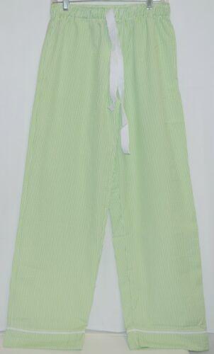 Ellie O Adult Seersucker Lounge Pants Size Medium Color Lime
