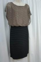 Sangria Dress Sz 8 Black Multi Sleeveless Lace Top Tiere Evening Dinner Dress - $48.35