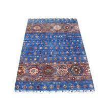 "3'3""x5' Blue Khorjin Design Super Kazak Wool Hand Knotted Oriental Rug G... - $584.68"