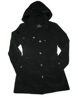 London Fog Trench rain dress Coat w rem hood Black size Medium M - $109.35