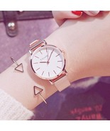 Ulzzang® Rose Gold Watch Women Luxury Stainless Steel Ladies Wristwatche... - $12.44