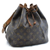 LOUIS VUITTON Monogram Petit Noe Shoulder Bag M42226 LV Auth ar295 **HOLE - $210.00