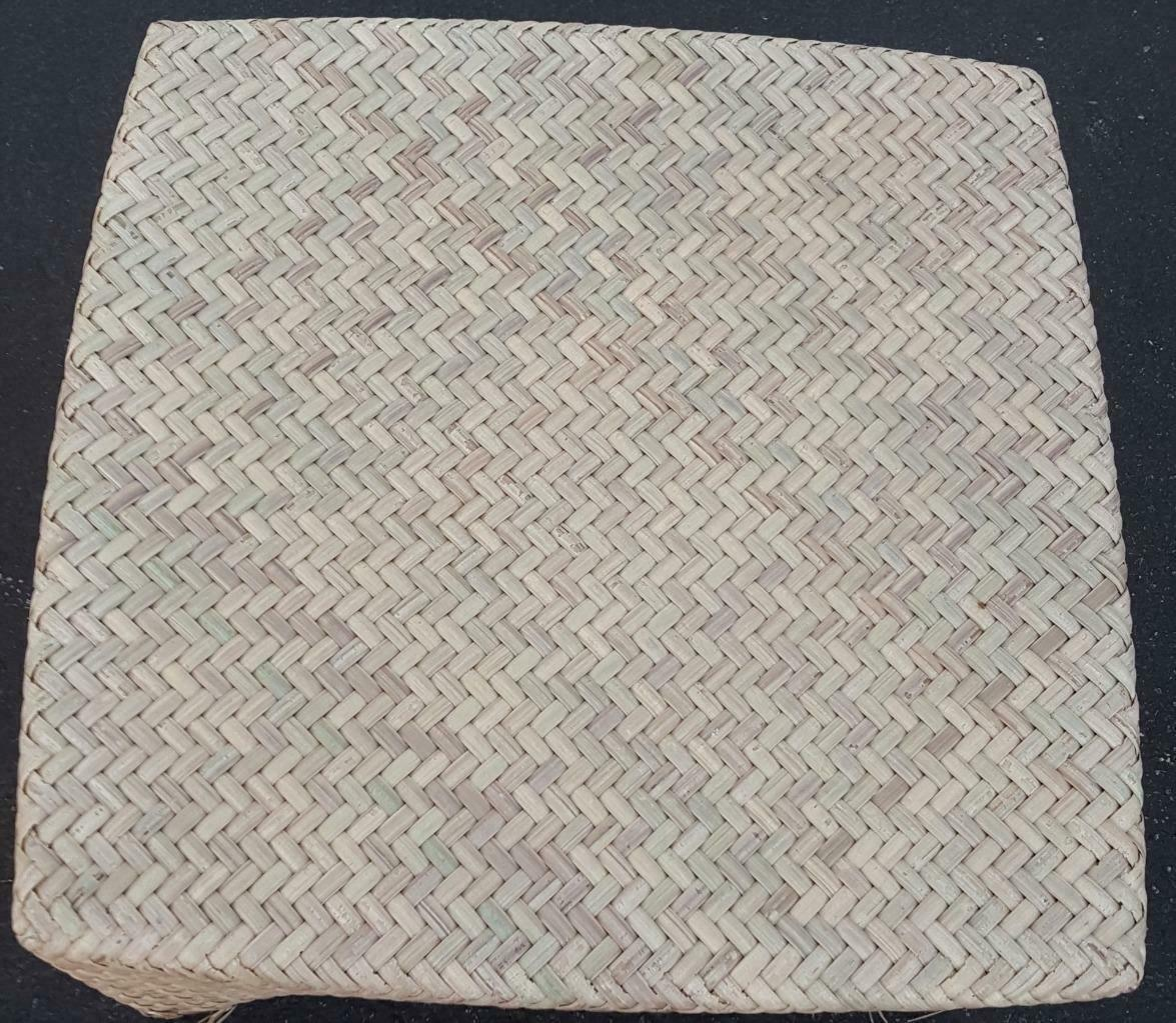 Very Nice Pastel Outdoor Ottoman Beautiful Weave Wood Synthetic - GDC - STYLISH
