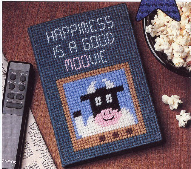 Football Squeezie & Moovie TV Guide Cover Plastic Canvas NEW Pattern