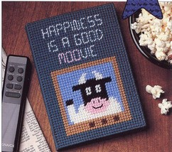 Football Squeezie & Moovie TV Guide Cover Plastic Canvas NEW Pattern - $0.90