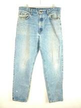 VTG Levi's Men's 550 Light Wash Denim Distressed Jeans SZ 37x31.5 Made i... - $32.66