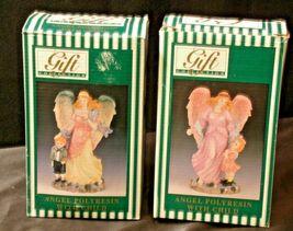 Pair of Angel Figurines in box AA-192051 Vintage image 4