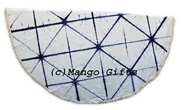 Mango Gifts Indigo Tie-Dye Round Roundie Beach Throw Indian Tapestry , H... - $23.60