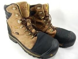 Keen Milwaukee Size 13 M (D) EU 47 Men's WP Steel Toe Work Brown Boots 1009174