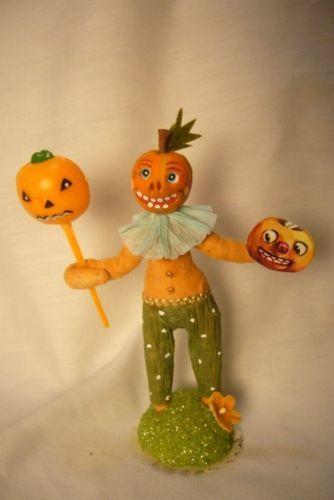 Vintage Inspired Spun Cotton, Pumpkin Boy Halloween