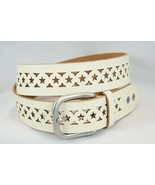 Women's Star Punched Genuine Leather Silver Toned Buckle Made in Guatema... - £14.05 GBP