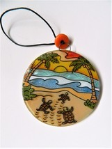 Hatching Baby Turtles Fused Glass Ornament Fair Trade Ecuador - £9.87 GBP