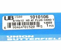 LOT OF 2 NEW UNION BUTTERFIELD 1010106 PLUG HAND TAPS 9/16X12 H3 4F image 3