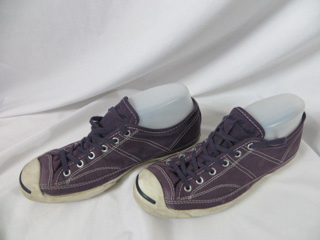 Converse Jack Purcell  7.5 -Purple /white canvas low top lace up sneakers